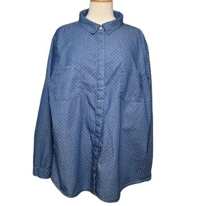 ALEXANDER JORDAN Shirt Long Sleeve Button Denim
